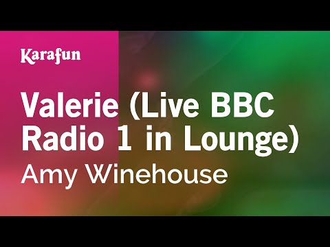 Karaoke Valerie (Live BBC Radio 1 in Lounge) - Amy Winehouse *