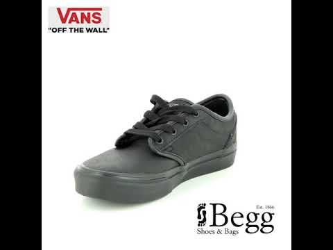 b8e9d3030 Vans Atwood Youth Synthetic Leather V003Z9KNX Black trainers - YouTube