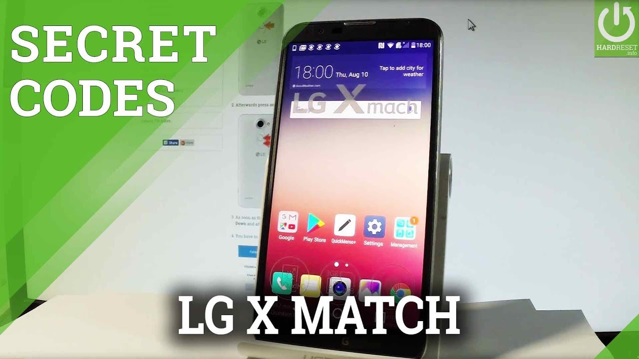 LG X Mach CODES / LG Tricks / Hidden Features / Secret Menu