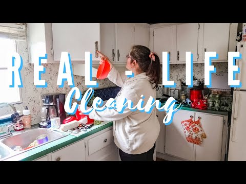 REAL LIFE CLEAN WITH ME IN REAL TIME CALMING MUSIC & NATURAL CLEANING SOUNDS ASMR -  ISH