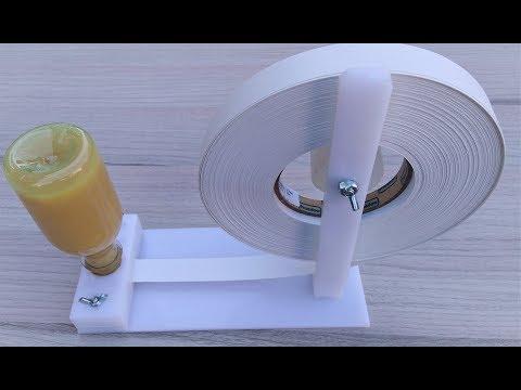 Aplicador de cola em fita de borda