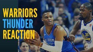 Warriors vs Thunder Reaction