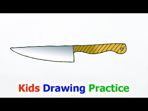 how to draw a knife - YouTube