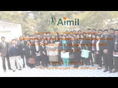 Industrial Visit of Management Students to Aimil Ltd , New Delhi