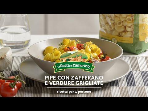 PIPE CON ZAFFERANO E VERDURE GRIGLIATE