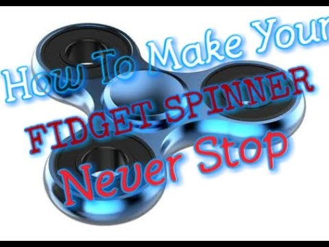 how to make your fidget