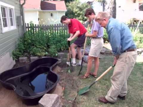 How To Make A Pond With A Preformed Pond Liner