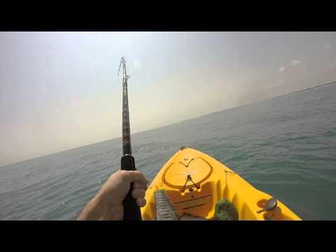 Kayak Fishing off the Beach!