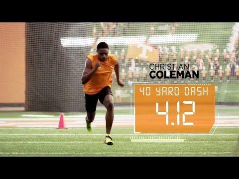 Coleman Runs Blazing 4.12 40-Yard Dash | ESPN