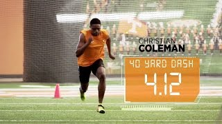 Coleman Runs Blazing 4.12 40-Yard Dash | ESPN