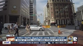 Traffic delays expected around Justin Beiber's concert in Baltimore