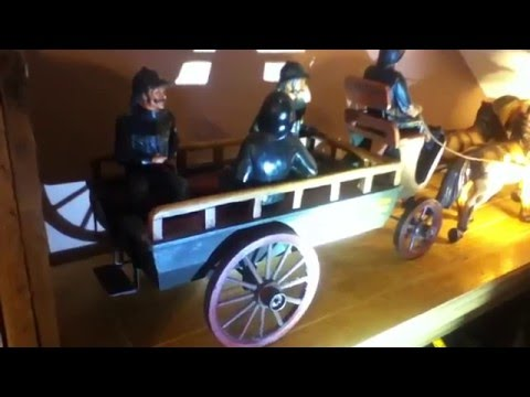 Horse Drawn Police Wagon Model