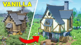 I Upgraded This Minecraft Survival Starter House In INSANE Detail