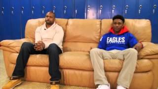 The court side relationship between Roy Jones Jr. & his son