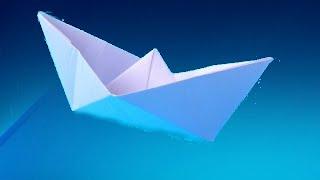 Легкое ОРИГАМИ. КОРАБЛИК из бумаги для начинающих.Видео