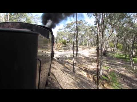 Video 1225 VGR and VLine, Castlemaine, Maldon and train to Melbourne, 21 Sept 2013