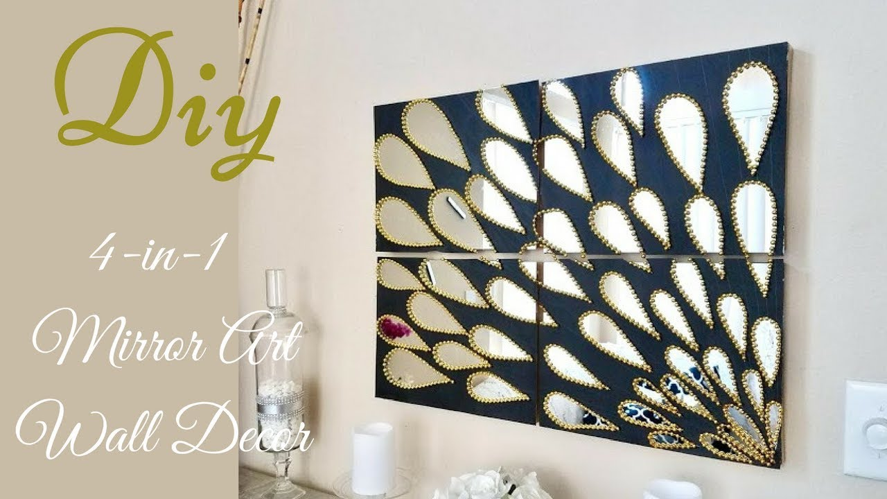 Diy 4 in 1 large mirror wall art decor