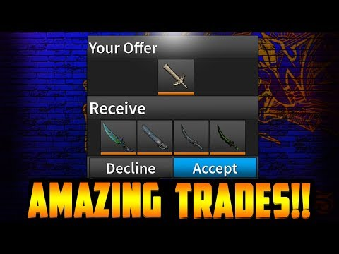 HOW TO MAKE MASSIVE PROFIT!! *AMAZING KNIFE TRADES!* (ROBLOX ASSASSIN)