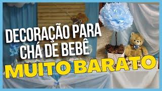 Como Fazer Decoração de Chá de Bebê - Simples e Bonito // Nathalia Cardoso