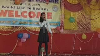 Akshata singing cheap thrills live in bibhuti school