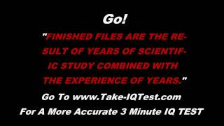 Take This 10 Second Online IQ Test for Free - Are You A Genius?