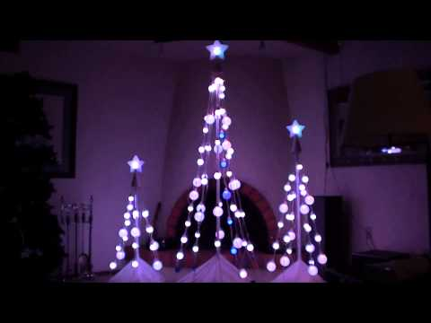 LED Color-Changing Light Show Christmas tree's with sound