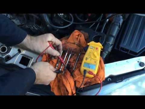 Two ways to test diesel glow plugs