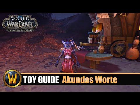 [WOW] Spielzeug Guide #165: Akundas Worte