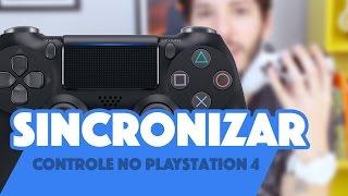 COMO SINCRONIZAR O CONTROLE DO PLAYSTATION 4 COM FIO E SEM FIO