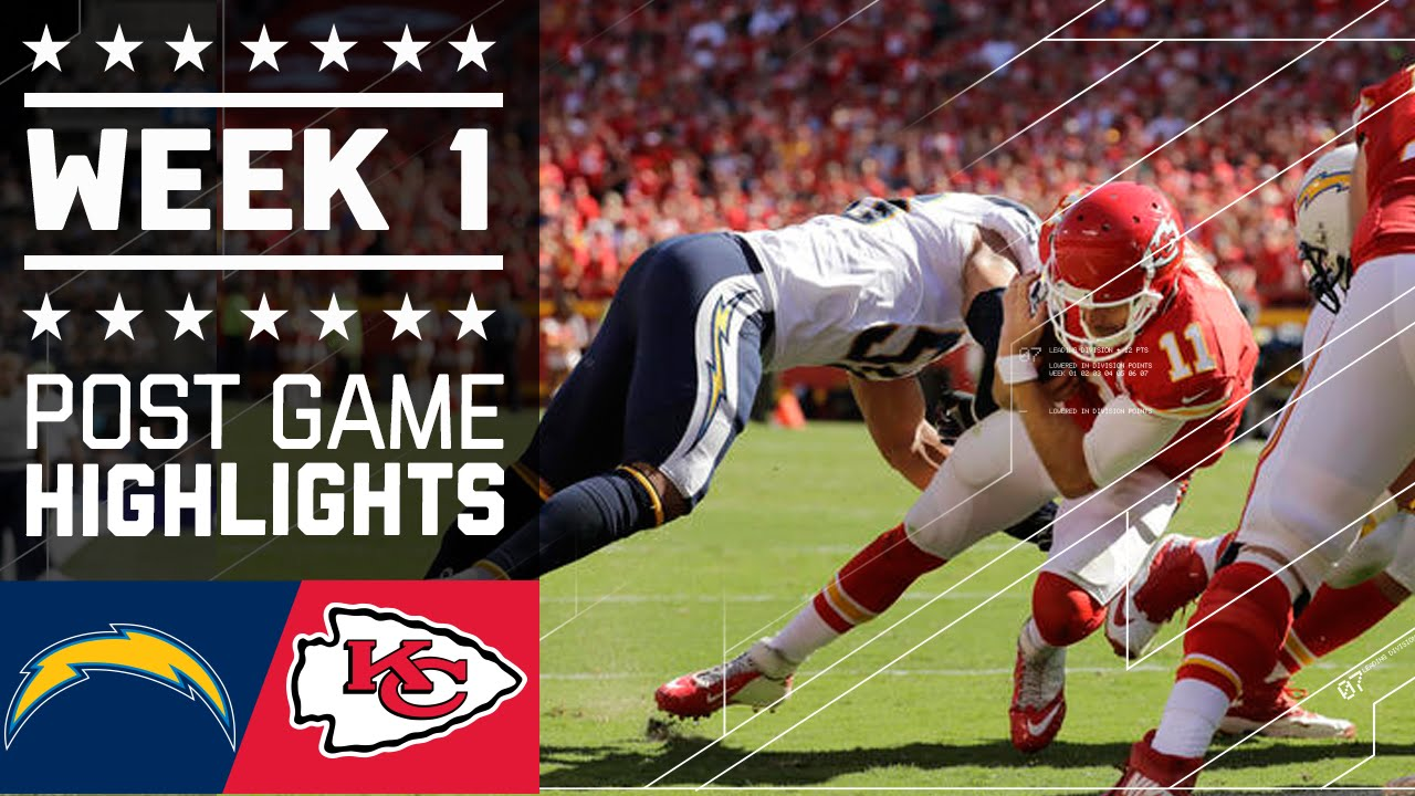 Chargers Vs Chiefs Nfl Week 1 Game Highlights Funnydog Tv