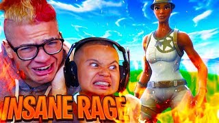 I NEVER SEEN MY LITTLE BROTHER RAGE THIS HARD EVER!! FORTNITE BATTLE ROYALE FUNNY MOMENTS 😂😡
