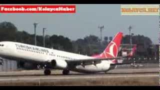 THY uçağının kuyruğu yere çarptı Pilot faciayı son anda önledi 02.12.2013
