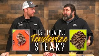 Does Pineapple ACTUALLY Tęnderize a Steak? | BBQ Brine Experiment