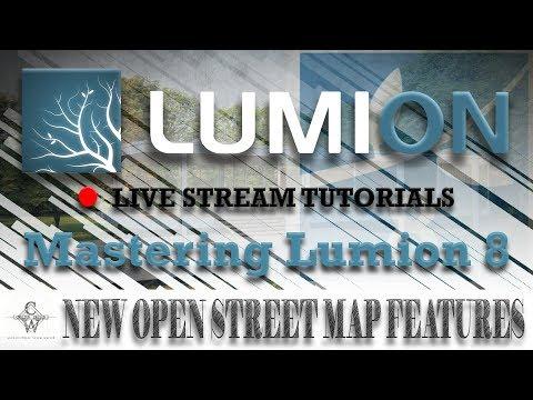 🔴Lumion 8 New Open Street Map Features | Lumion Live Stream Tutorials