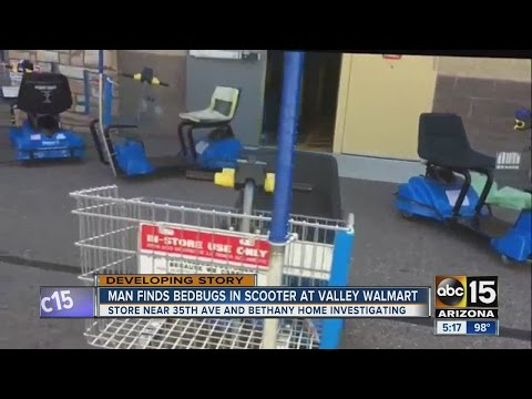 Customer reports bed bugs at Phoenix Walmart store
