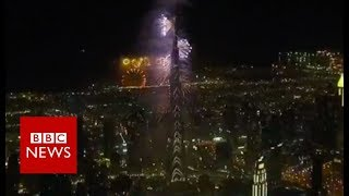 New Year celebrations: UAE welcomes in 2019 - BBC News