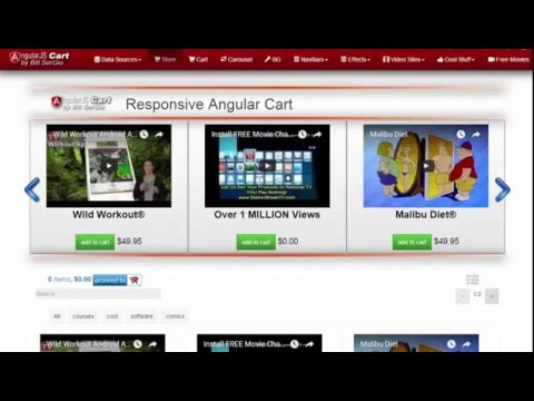 Affilate Marketing Shopping Cart - Full Source Code, Responsive & Plays Videos