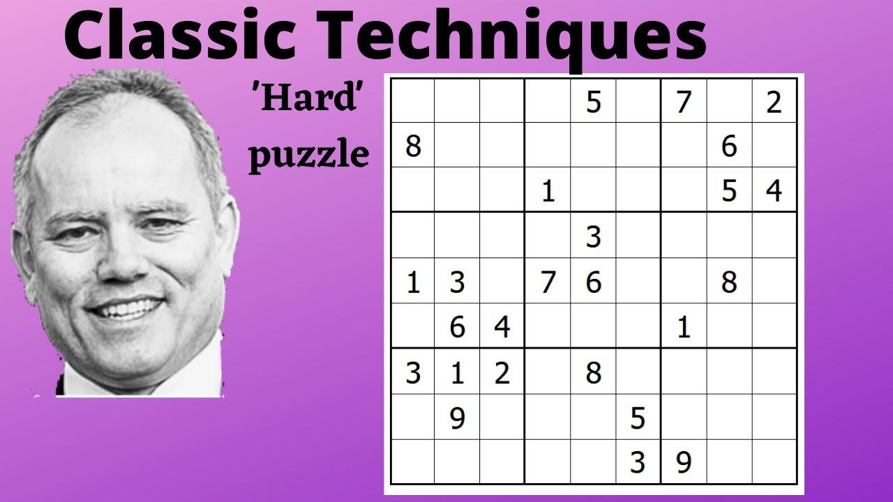 Techniques for Hard Classic Sudoku