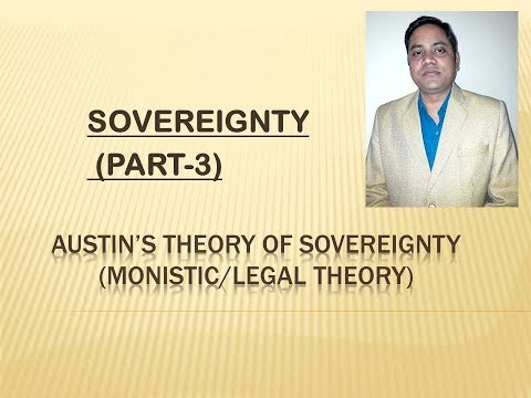 sovereignty,(सम्प्रभुता), AUSTIN'S THEORY (MONISTIC/LEGAL THEORY) BY DR VIVEK SINGH