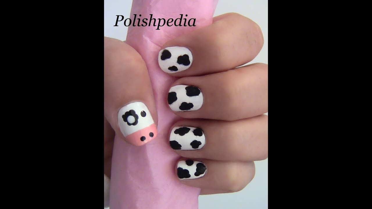 Fuzzy Cow Nail Art Youtube