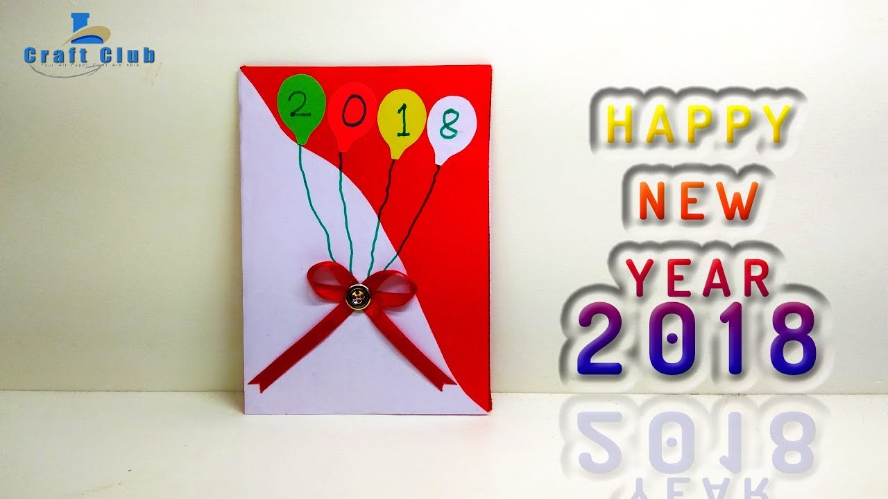 happy new year card 2018 new year gift card 2018 with linascraftclub