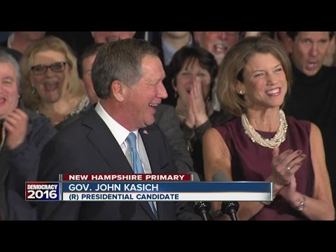 John Kasich finishes second in New Hampshire Primary