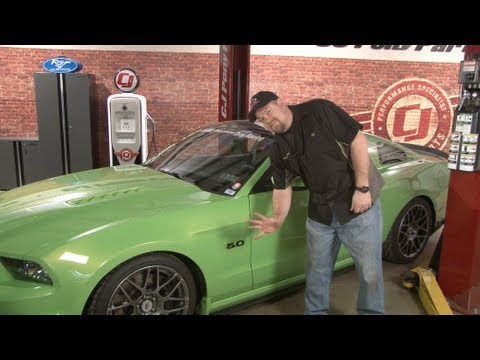 Mustang UPR Fender 5.0 Emblem 2011-2014 Installation - YouTube