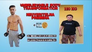 UZASNA PREMENA ZA  6 HODIN/ INCREDIBLE BODY TRANSFORMATION/  FAT TO FIT