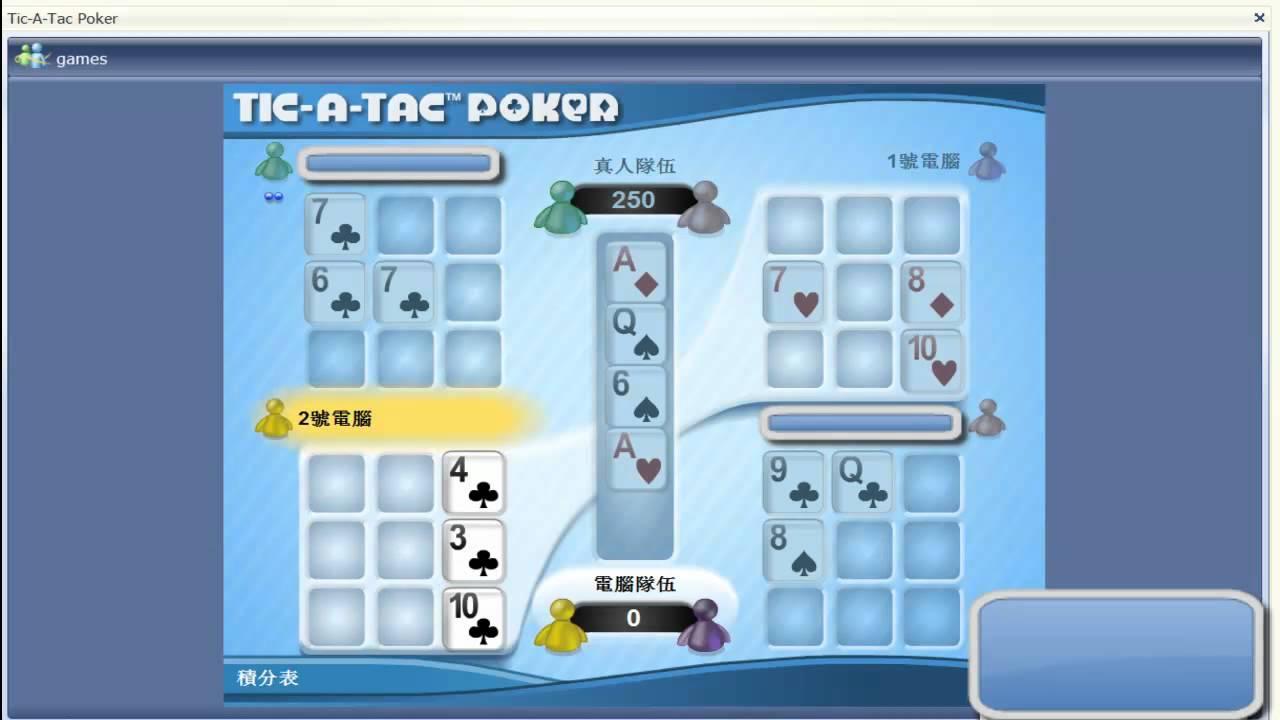 Tic tac toe poker numero skyrock roulette
