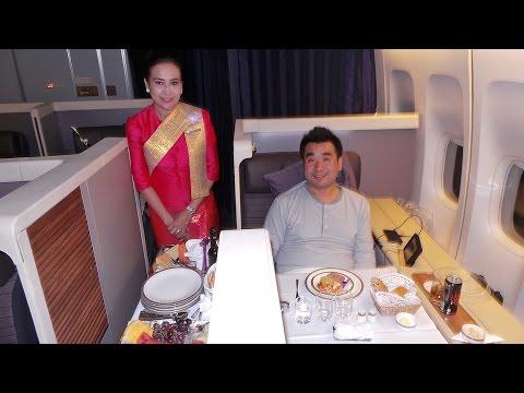 Thai Airways Royal First Class B747-400 London to Bangkok