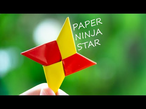 How to make a Paper Ninja Stars- DIY paper ninja star tutorial