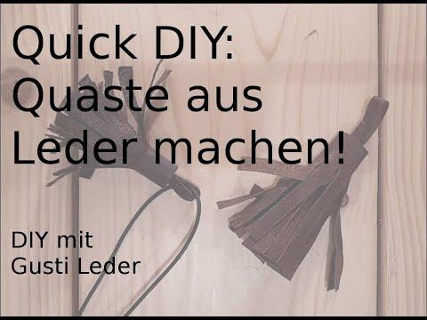 Quaste aus Leder in nur einer Minute selber machen | Quick DIY