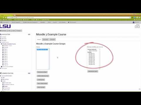 Moodle 3: Creating Groups