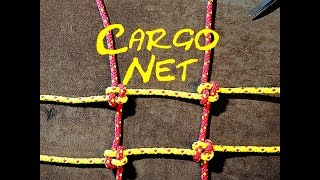 Crown Knot for Making a Cargo Net or Climbing Net